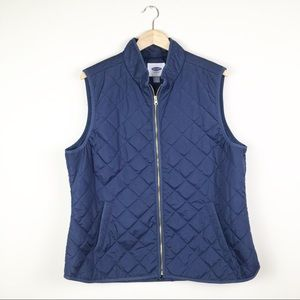Old Navy Quilted Puffer Vest 2x EUC Navy Blue